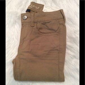 American Eagle Outfitters soft khaki leggings.